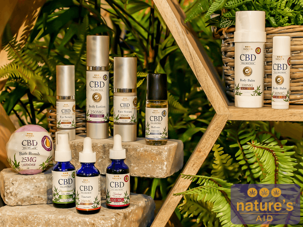 Nature's Aid CBD products at Gifts of Nature