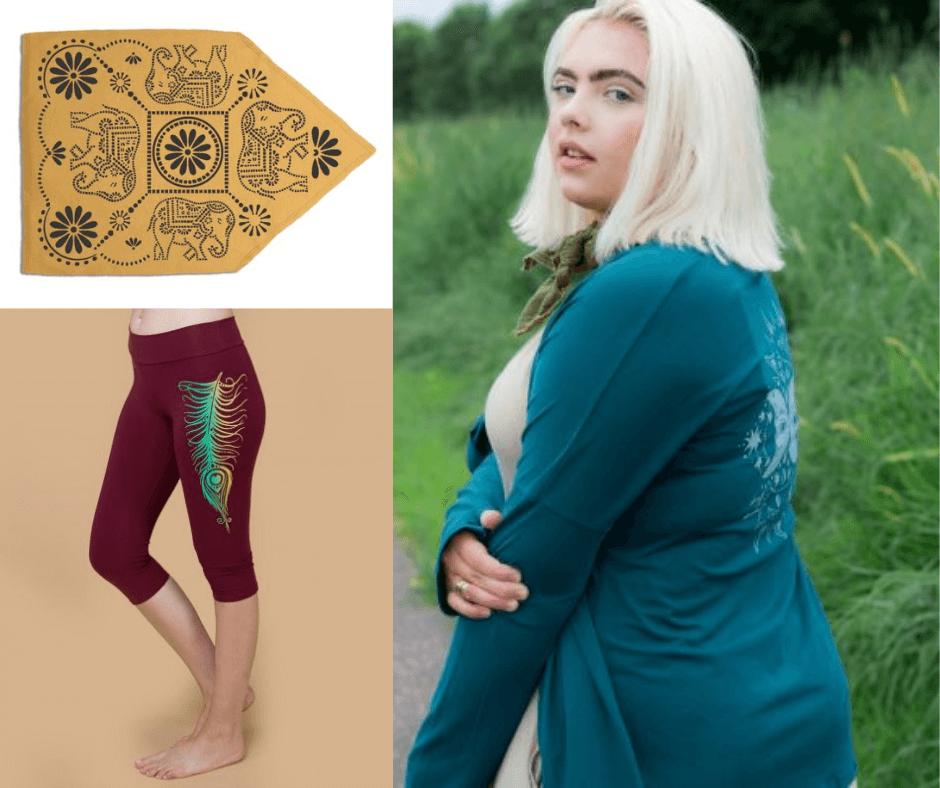 SoulFlower Fair Trade Apparel, Leggings, and Bandanas