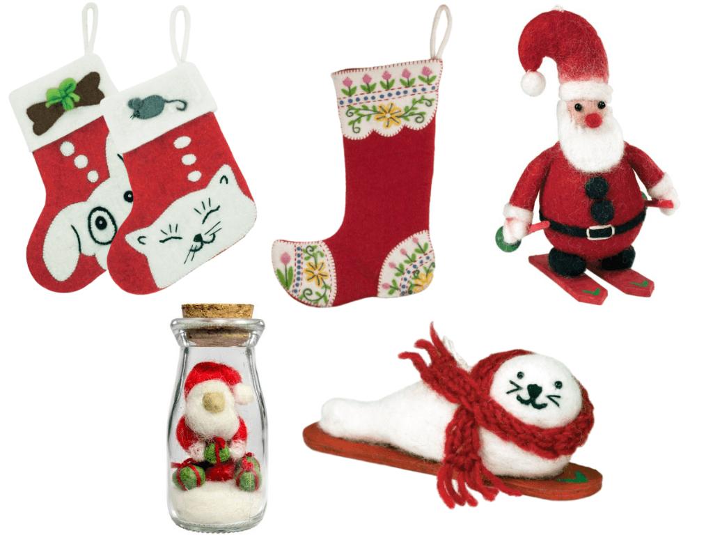 dZi Handmade Holiday Christmas Felt Fair Trade Home Decor