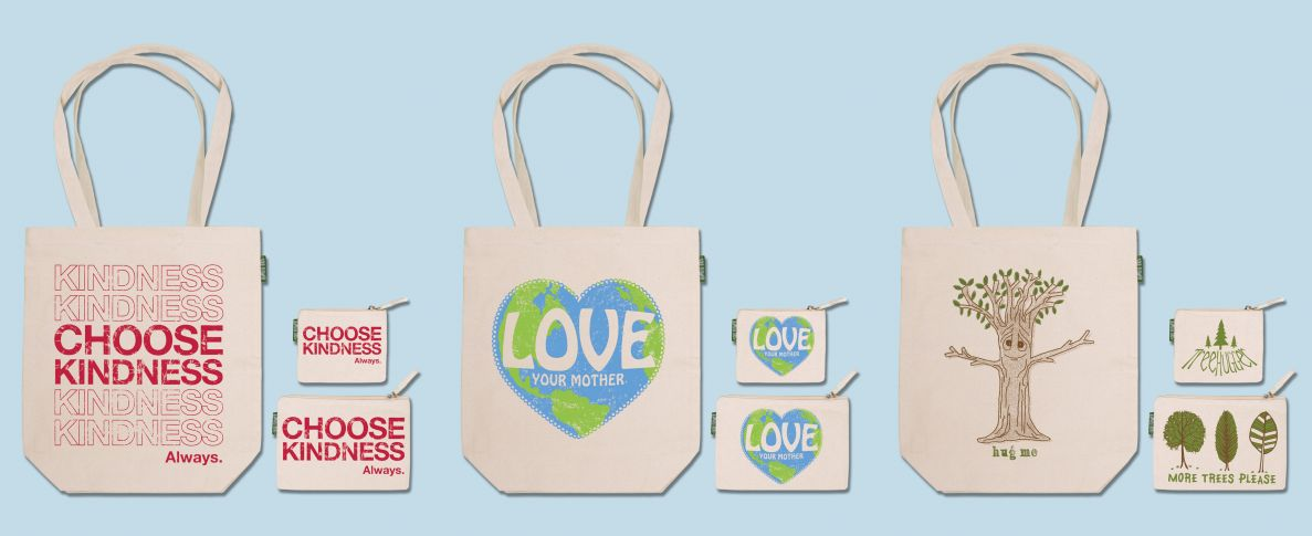 Soul Flower Fair Trade Tote Bags and Coin Purses